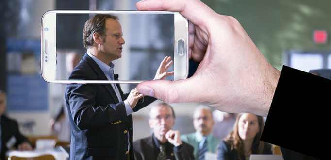 Snimanje javnog nastupa mobilnim telefonom